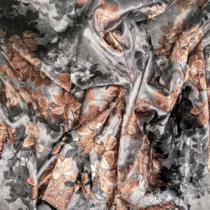 Tela de terciopelo estampado arrugado 1