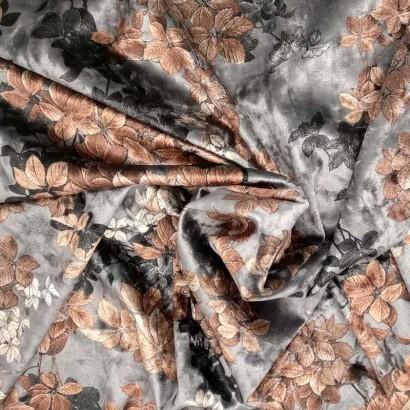 Tela de terciopelo estampado arrugado 2