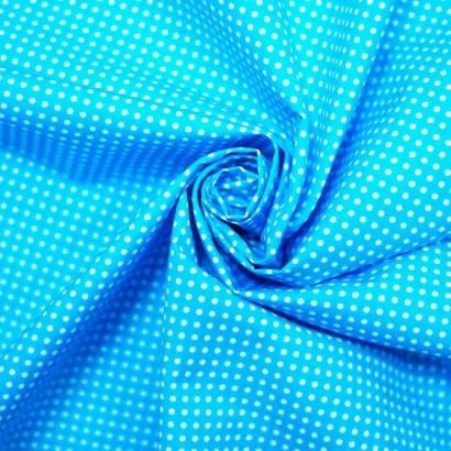 Tela de topos azul blanca arrugada