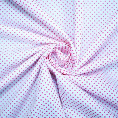 Tela de topos blanca rosa  arrugada