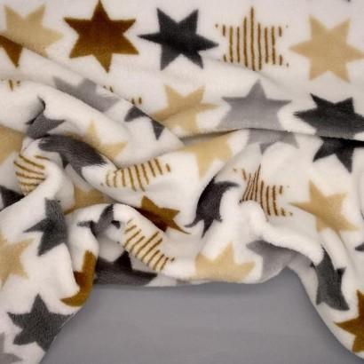 Tela de coralina estrellas colores arrugada