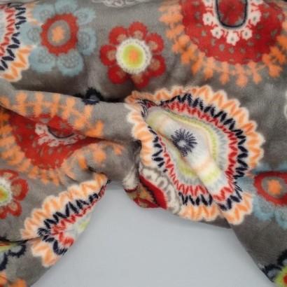 Tela de coralina flores arrugada
