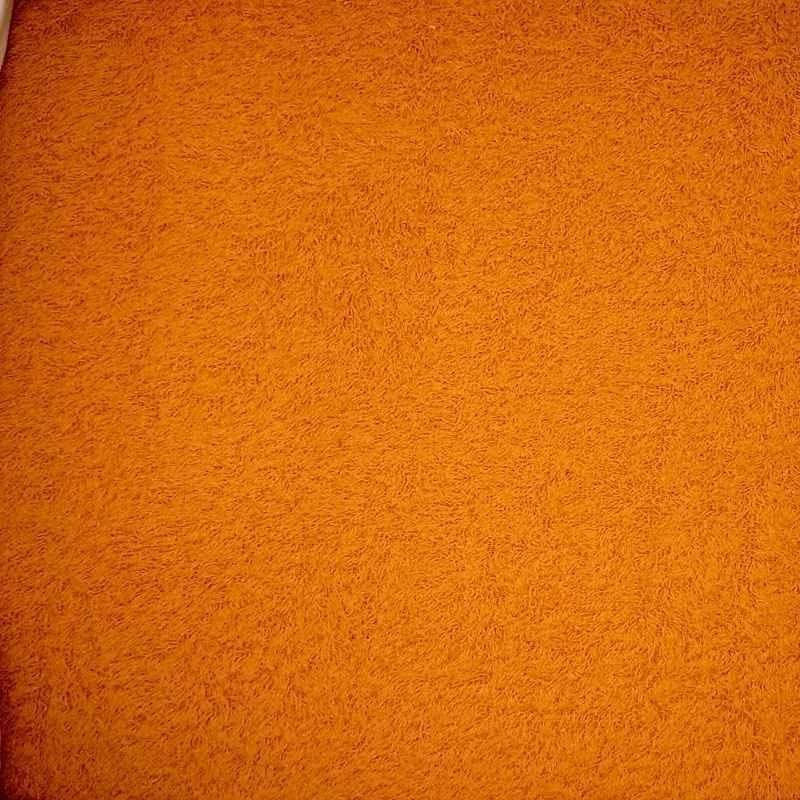 Tela de rizo naranja
