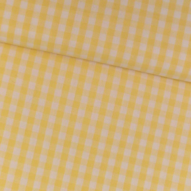 Tela de vichy (5mm) amarillo tubo