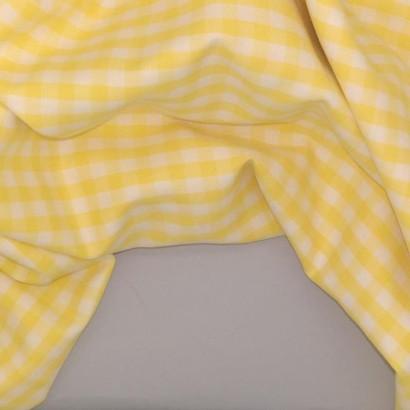 Tela de vichy (5mm) amarillo arrugada