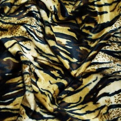 Tela de pelo tigre arrugada