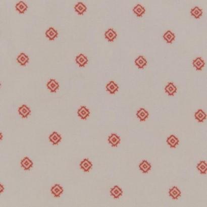 Tela de pana blanca con rombo rojo 2