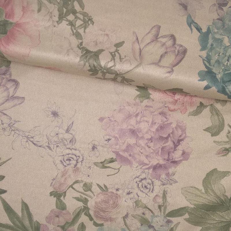 Tela de antelina flor tubo