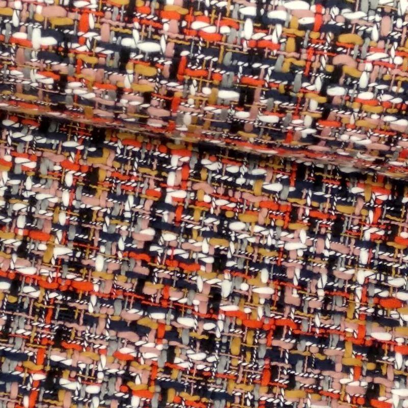 Tela de chanel rojo y negro tubo