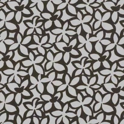 Tela de algodón estampado marrón 2
