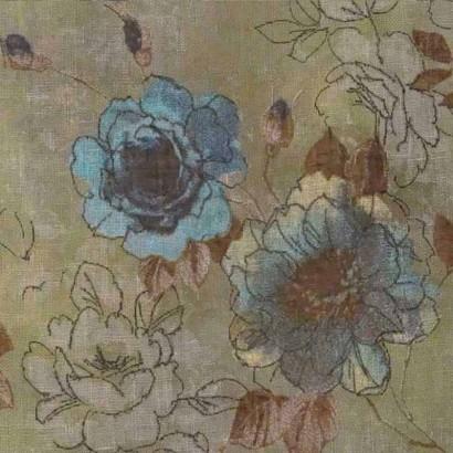 Tela de flores turquesa 3