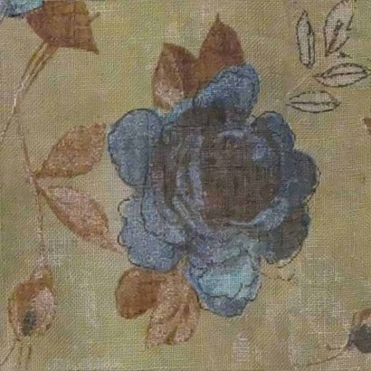 Tela de flores turquesa 4