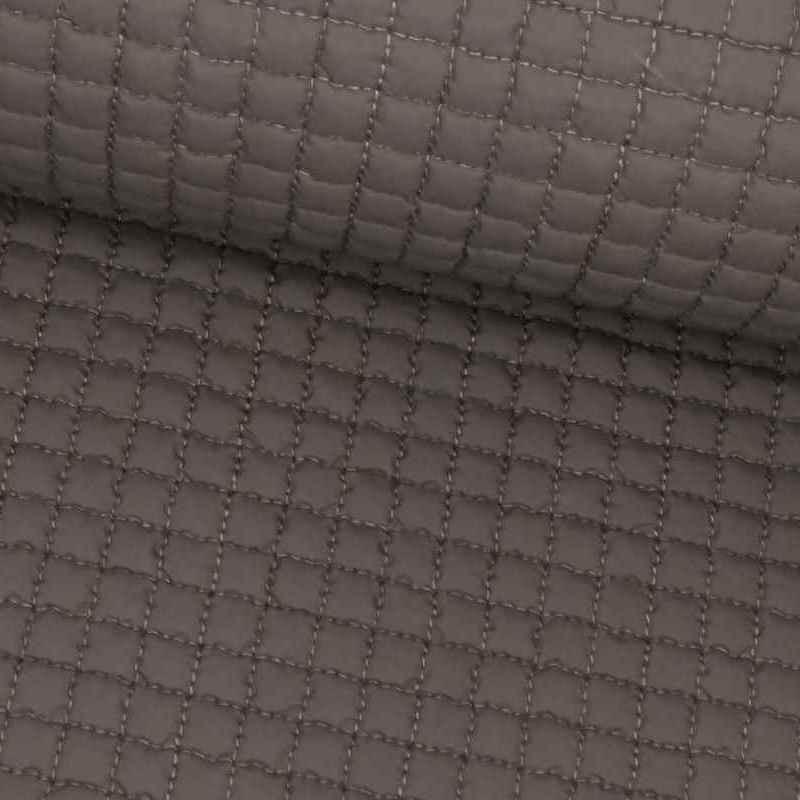 Tela de gofre acolchada gris lomo