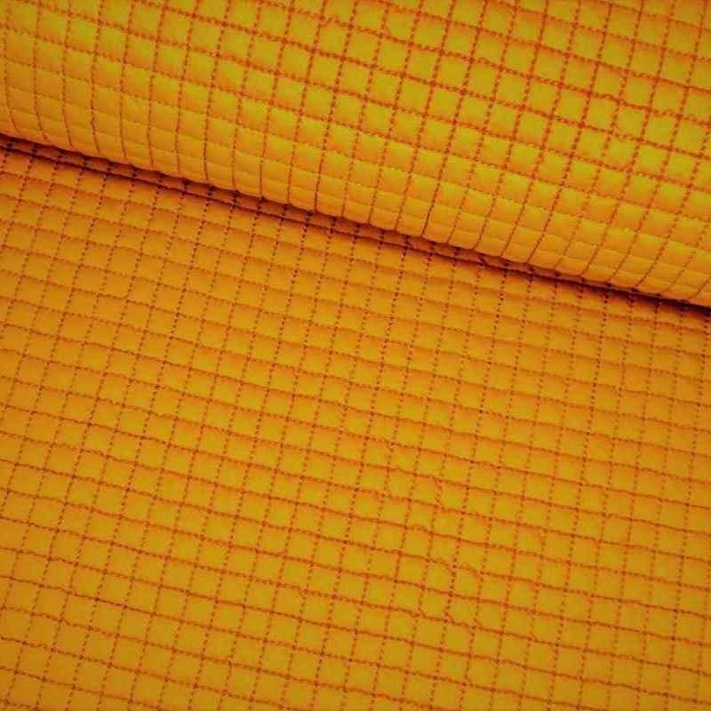 Tela de gofre acolchada amarillo lomo