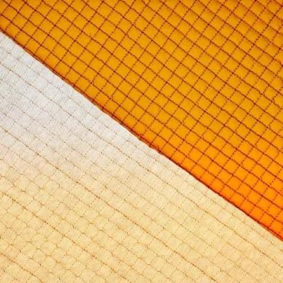 Tela de gofre acolchada amarillo textura