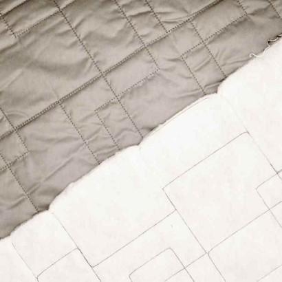 Tela de acolchada plata textura