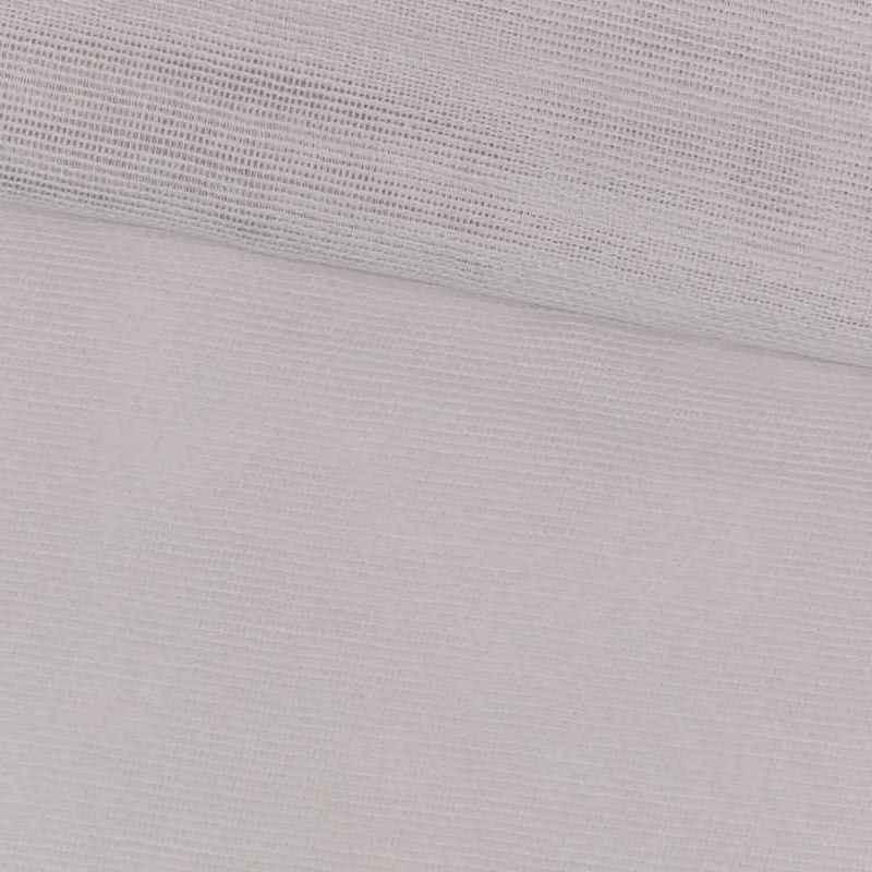 Tela de gasa de algodón blanca lomo