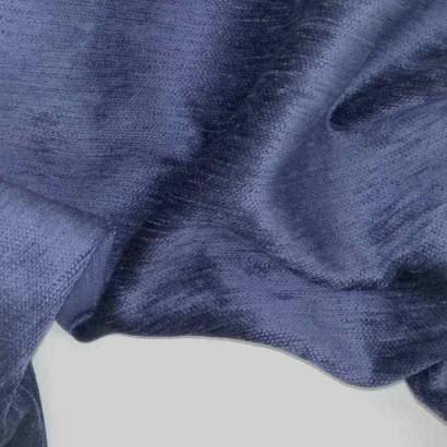 Tela de chenilla azul arrugada