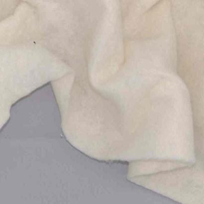 Tela de muletón de algodón arrugada