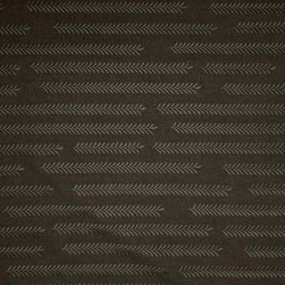 Tela de poliestrer negra con dibujo de trigo