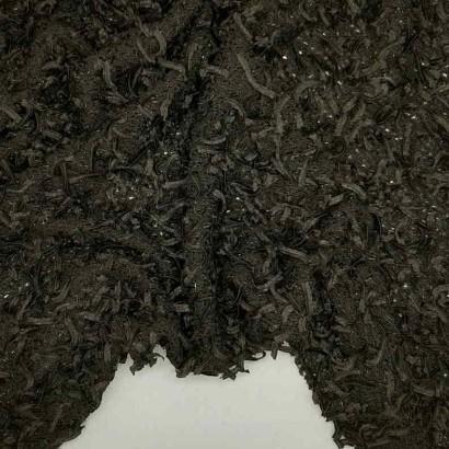 Tela de cintas negras arrugada