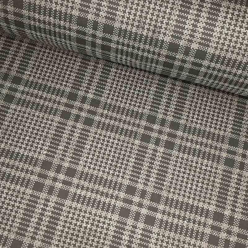 Tela de neopreno reversible gris y negro lomo