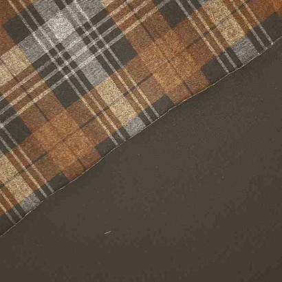 Tela de neopreno reversible gris, negro y marrón 2