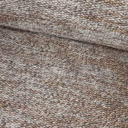 Tela de punto marrón y gris lomo