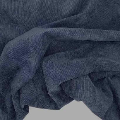 Tela de micropana azul marino arrugada