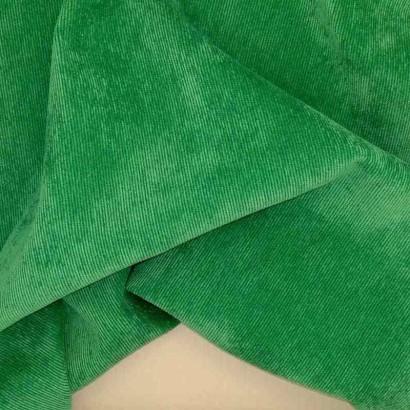 Tela de micropana verde arrugada