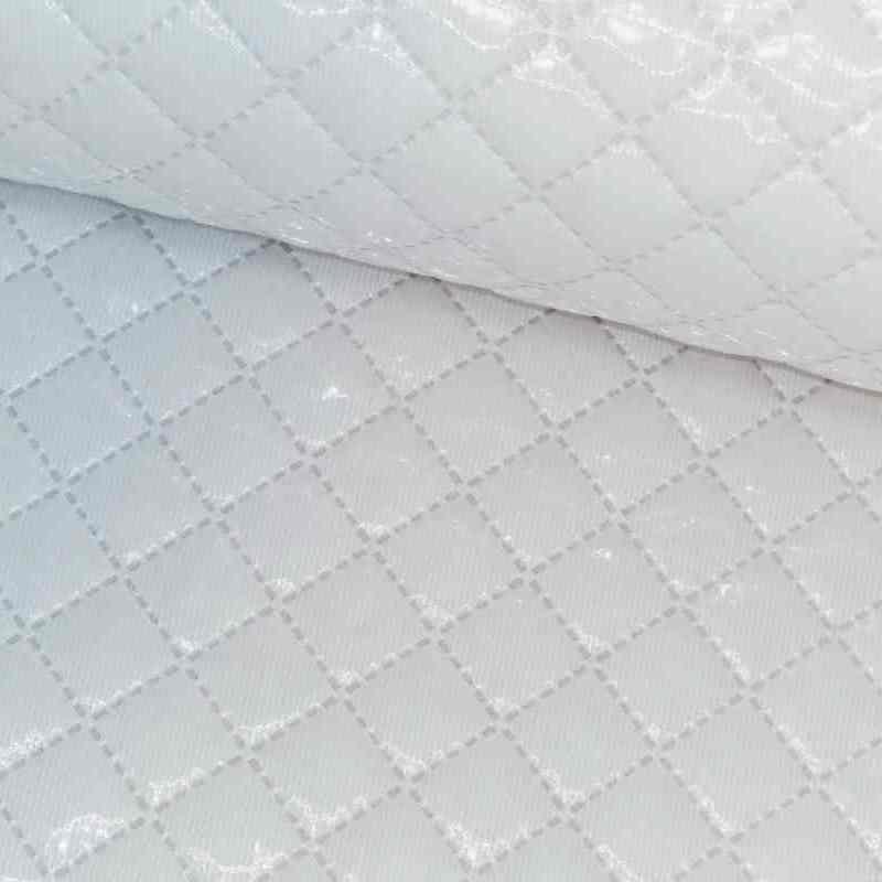 Tela de piqué plastificado blanco lomo