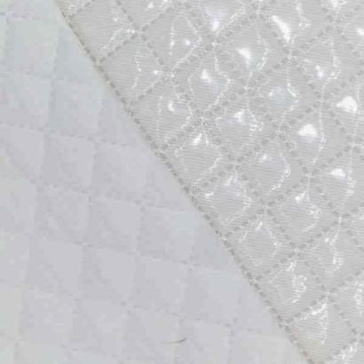 Tela de piqué plastificado blanco 2