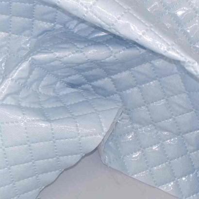 Tela de piqué plastificado azul arrugado