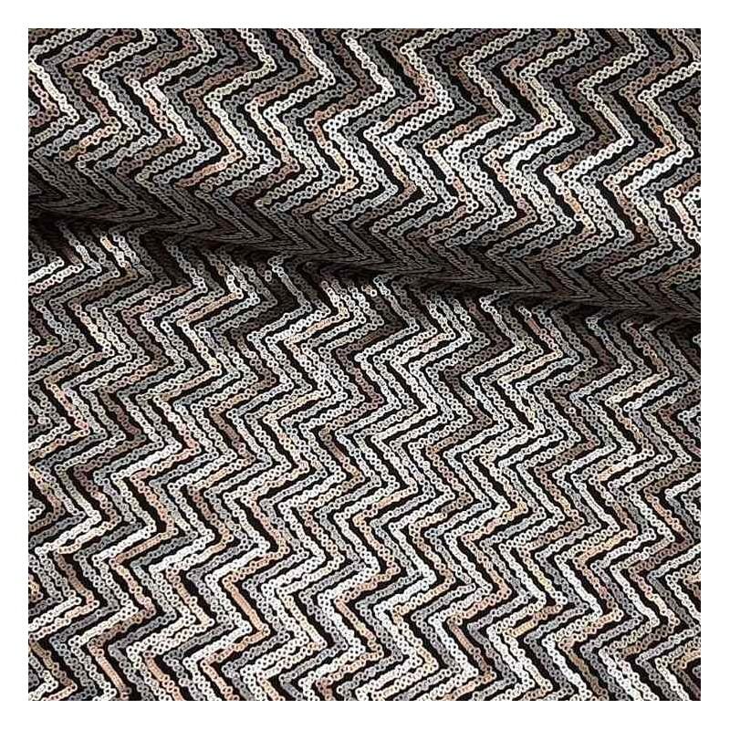Tela de lentejuela zigzag lomo