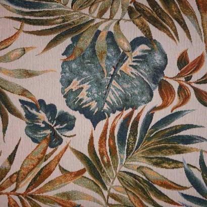 Tela de tapicería hojas grandes