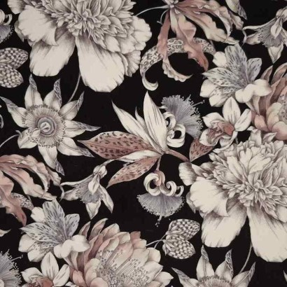Tela de terciopelo flores
