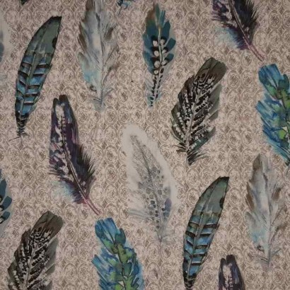 Tela de terciopelo plumas