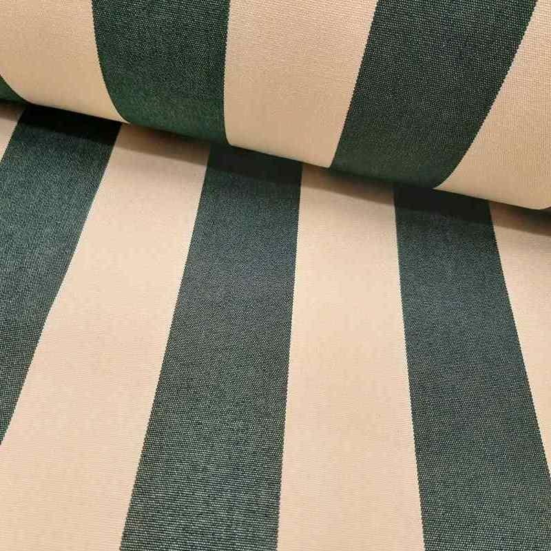 Tela de toldo rayas verde lomo