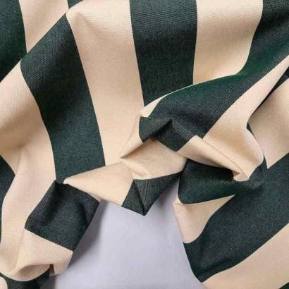 Tela de toldo rayas verde arrugada