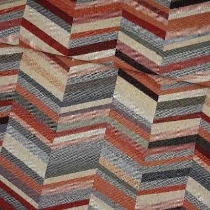Tela de tapicería espiga de colores lomo