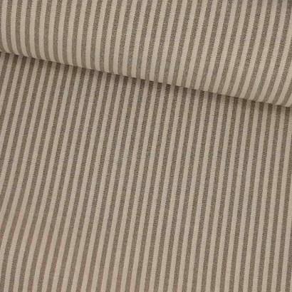 Tela de loneta raya fina beige lomo