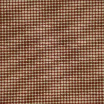 Tela de loneta vichy cuadro pequeño rojo