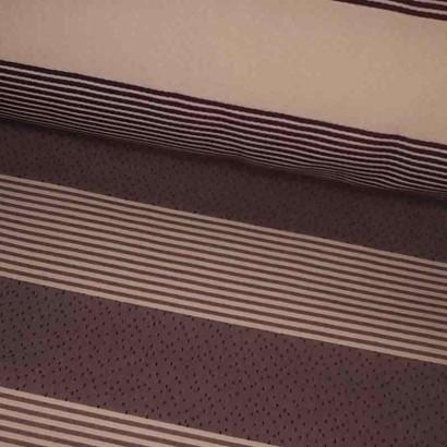 Tela de tapicería raya morada lomo