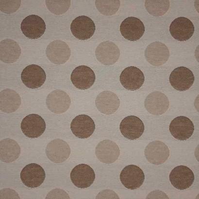 Tela de tapicería motas beiges