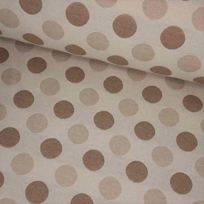 Tela de tapicería motas beiges lomo