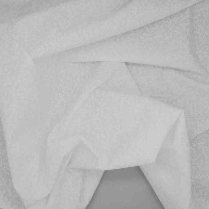 Tela de sábana blanca flor arrugada