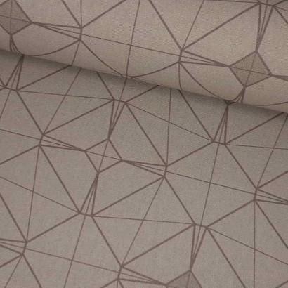 Tela de loneta resinada geométrica lomo