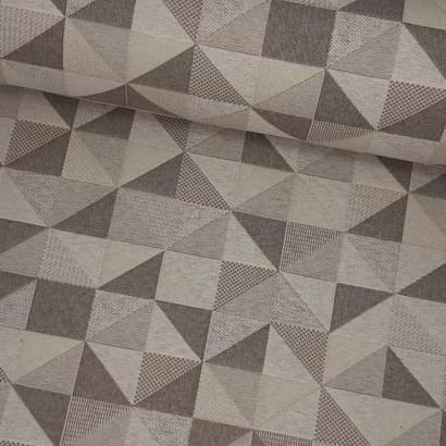Tela de loneta resinada triangulos lomo