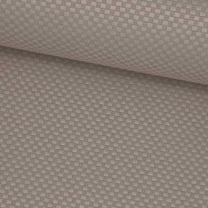 Tela de loneta resinada cuadritos beige lomo