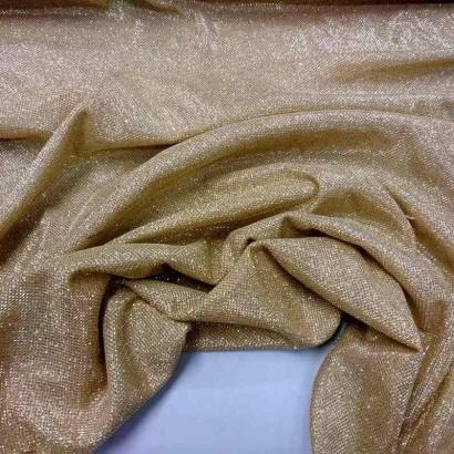Tela de malla brillante dorada arrugada